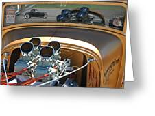 '29 Ford With '32 Ford Reflection Greeting Card