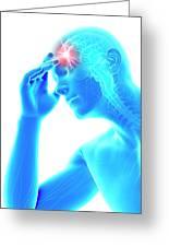 Human Headache Greeting Card