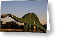 2d Brontosaurus Greeting Card