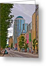 2nd Avenue - Seattle Washington Greeting Card