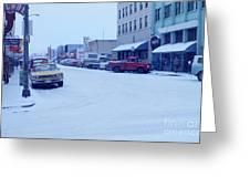 2nd Street Fairbanks Alaska 1969 Greeting Card