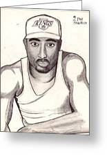 2pac Shakur Greeting Card