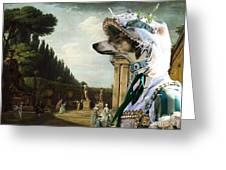 Chart Polski - Polish Greyhound Art Canvas Print Greeting Card