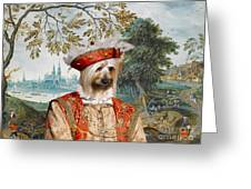 Silky Terrier Art Canvas Print Greeting Card