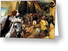 Welsh Springer Spaniel Art Canvas Print Greeting Card