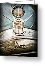 1923 Ford Model T Hood Ornament Greeting Card by Jill Reger