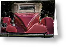 1930 Packard Model 734 Speedster Runabout Greeting Card
