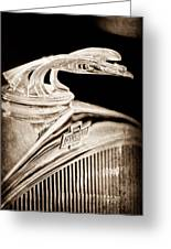 1931 Chevrolet Hood Ornament Greeting Card