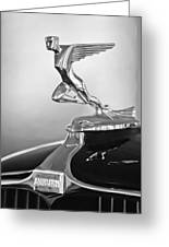 1932 Auburn 12-160 Speedster Hood Ornament Greeting Card