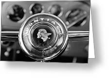 1933 Pontiac Steering Wheel Emblem Greeting Card