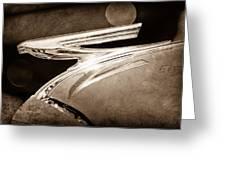 1937 Chevrolet Hood Ornament Greeting Card