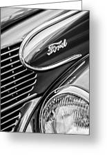 1939 Ford Woody Wagon Side Emblem Greeting Card