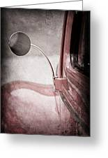 1940 Ford Deluxe Coupe Rear View Mirror Greeting Card