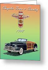 1948 Chrysler Town And Country Greeting Card