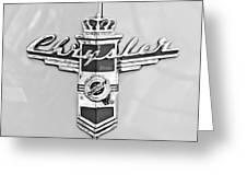 1948 Chrysler Town And Country Sedan Emblem Greeting Card