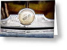 1949 Chrysler Windsor Grille Emblem Greeting Card