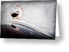 1949 Ford Hood Ornament Greeting Card