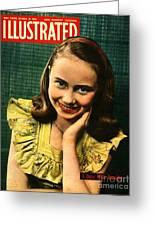1950s Uk Illustrated Magazine Cover Greeting Card