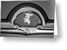 1953 Mercury Monterey Emblem Greeting Card