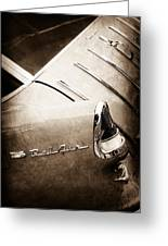 1955 Chevrolet Nomad Wagon Taillight Emblem Greeting Card