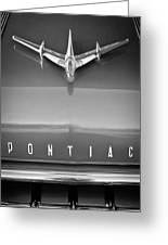 1955 Pontiac Safari Hood Ornament Greeting Card