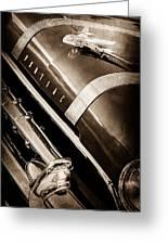 1955 Pontiac Star Chief Grille Emblem - Hood Ornament Greeting Card