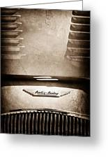 1956 Austin-healey 100m Bn2 'factory' Le Mans Competition Roadster Hood Emblem Greeting Card
