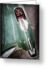 1957 Chevrolet Corvette Taillight Greeting Card