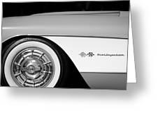 1957 Chevrolet Corvette Wheel Emblem Greeting Card