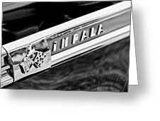 1959 Chevrolet Impala Emblem Greeting Card
