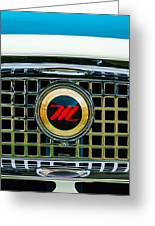 1959 Nash Metropolitan Grille Emblem Greeting Card