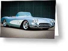 1960 Chevrolet Corvette Greeting Card