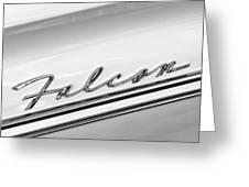 1963 Ford Falcon Futura Convertible   Emblem Greeting Card