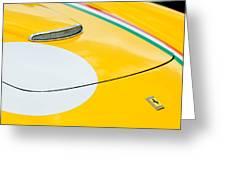 1964 Ferrari 250 Gt Lusso Hood Emblem Greeting Card