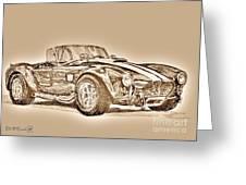 1965 Shelby Ac Cobra Greeting Card