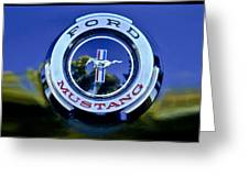 1965 Shelby Prototype Ford Mustang Emblem Greeting Card