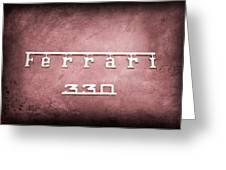 1967 Ferrari 330 Gtc Emblem Greeting Card