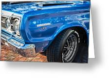 1967 Plymouth Belvedere Gtx 440 Painted  Greeting Card