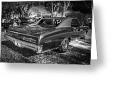 1967 Pontiac Gto Bw Greeting Card