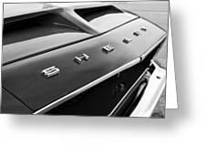 1968 Shelby Gt350 Hood Emblem Greeting Card
