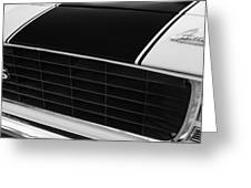 1969 Chevrolet Camaro Rs-ss Indy Pace Car Replica Grille - Hood Emblems Greeting Card by Jill Reger