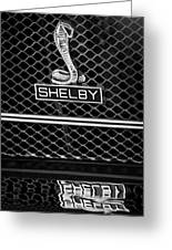 1969 Shelby Gt500 Convertible 428 Cobra Jet Grille Emblem Greeting Card