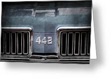 1970 Oldsmobile 442 Grille Emblem Greeting Card