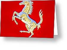 1999 Ferrari 550 Maranello Stallion Emblem Greeting Card