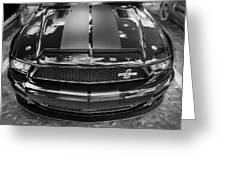 2008 Ford Shelby Mustang Gt500 Kr Painted Bw  Greeting Card