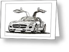 Gull Wing Mercedes Benz S L S Gull-wing Greeting Card
