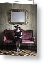 40s Lady Greeting Card by Joana Kruse
