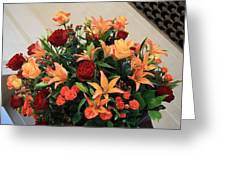 A Gallery's Flowers Greeting Card