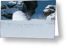 A Male Snowboarder Makes A Series Greeting Card