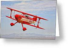 A Pitts Special S-2a Aerobatic Biplane Greeting Card